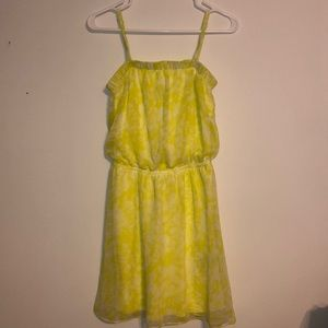 Bright yellow sun dress w/ removable straps